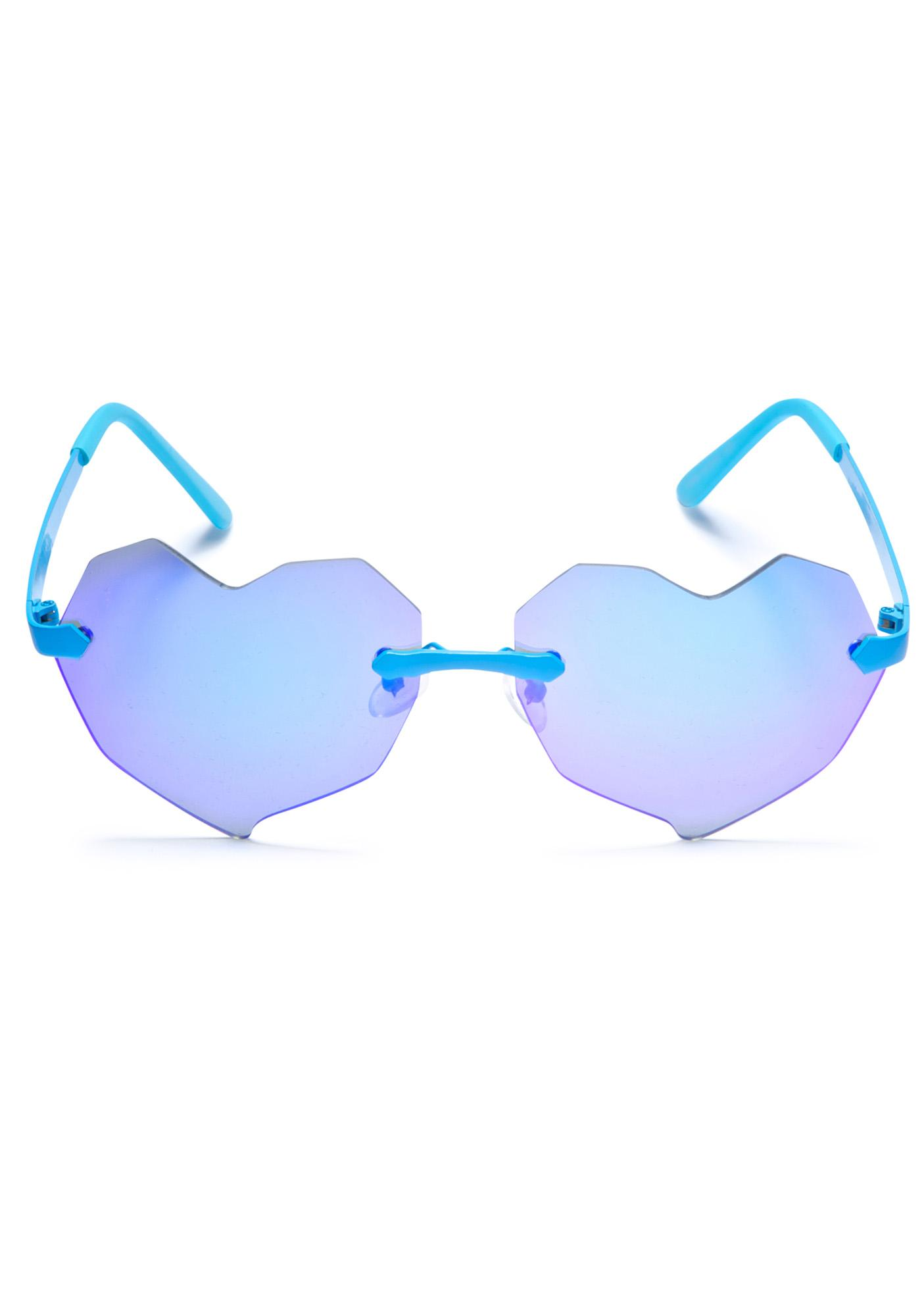 ESQAPE Lovelii Blue Heart Sunglasses