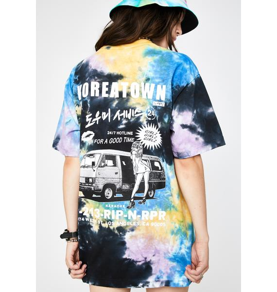 Rip N Rpr Hotline Tie Dye Graphic Tee