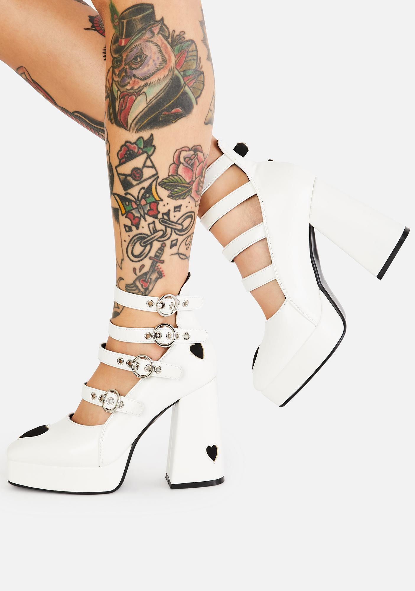 Lamoda Angel This Heart Of Mine Buckle Heels