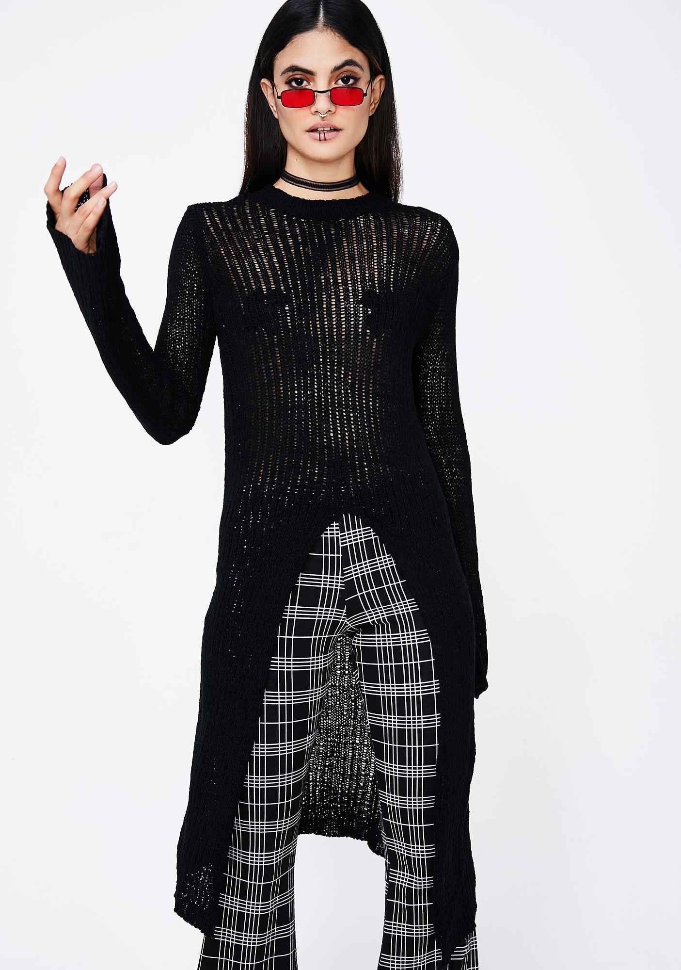 Gotta Split Knit Sweater