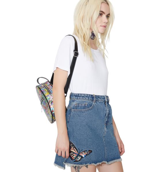 Butterfly Effect Denim Skirt