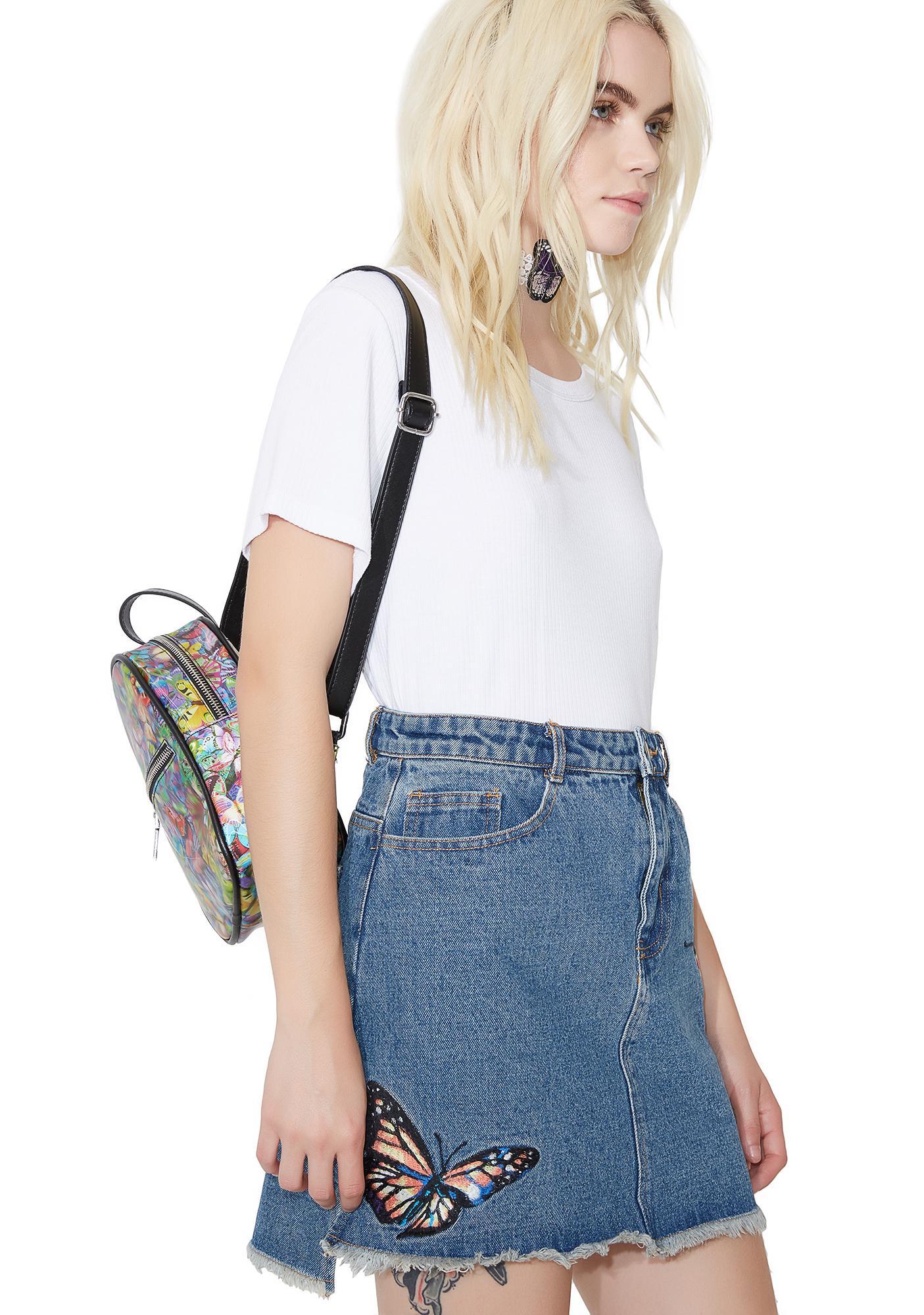 Butterfly Effect Denim Skirt