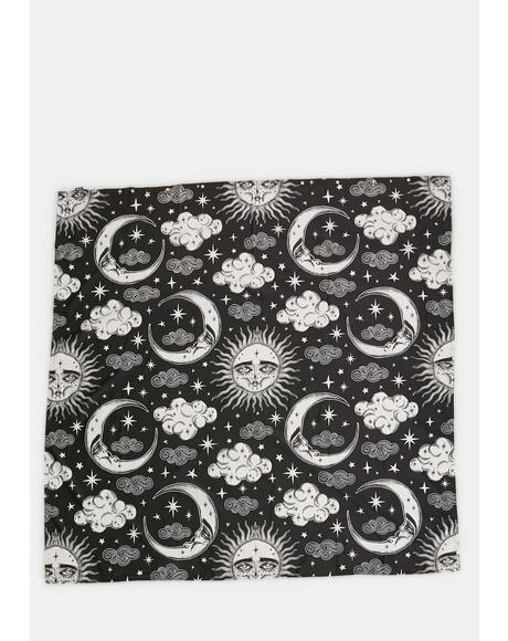Dreamy Moon Sun Shower Curtain