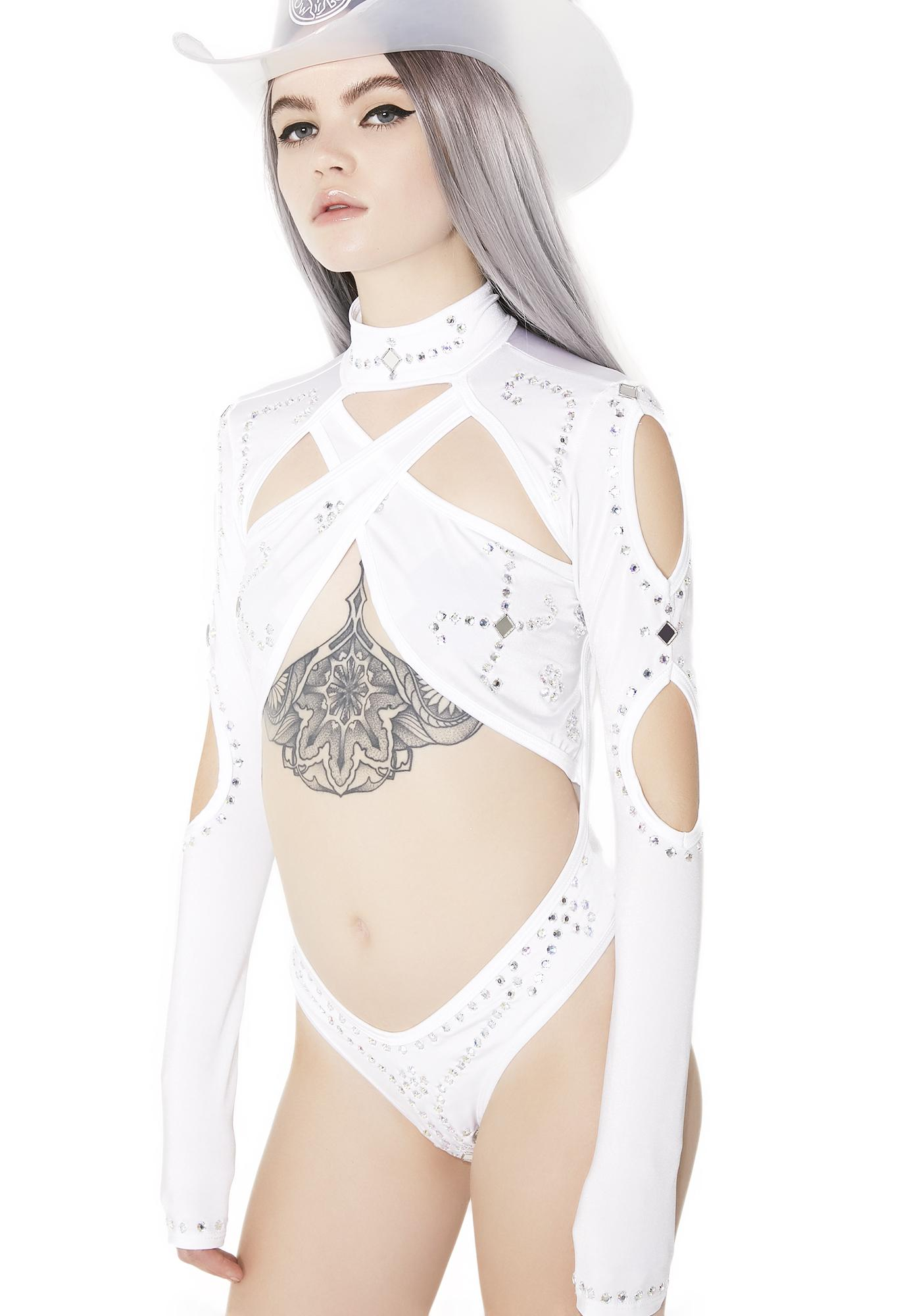 Time Stopper Rhinestone Bodysuit