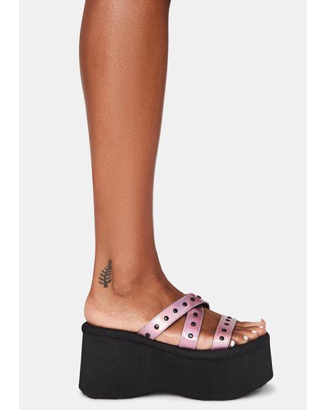Pixie Goth Beach Platform Sandals