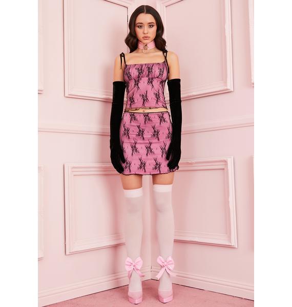 Sugar Thrillz Set The Mood Lace Skirt