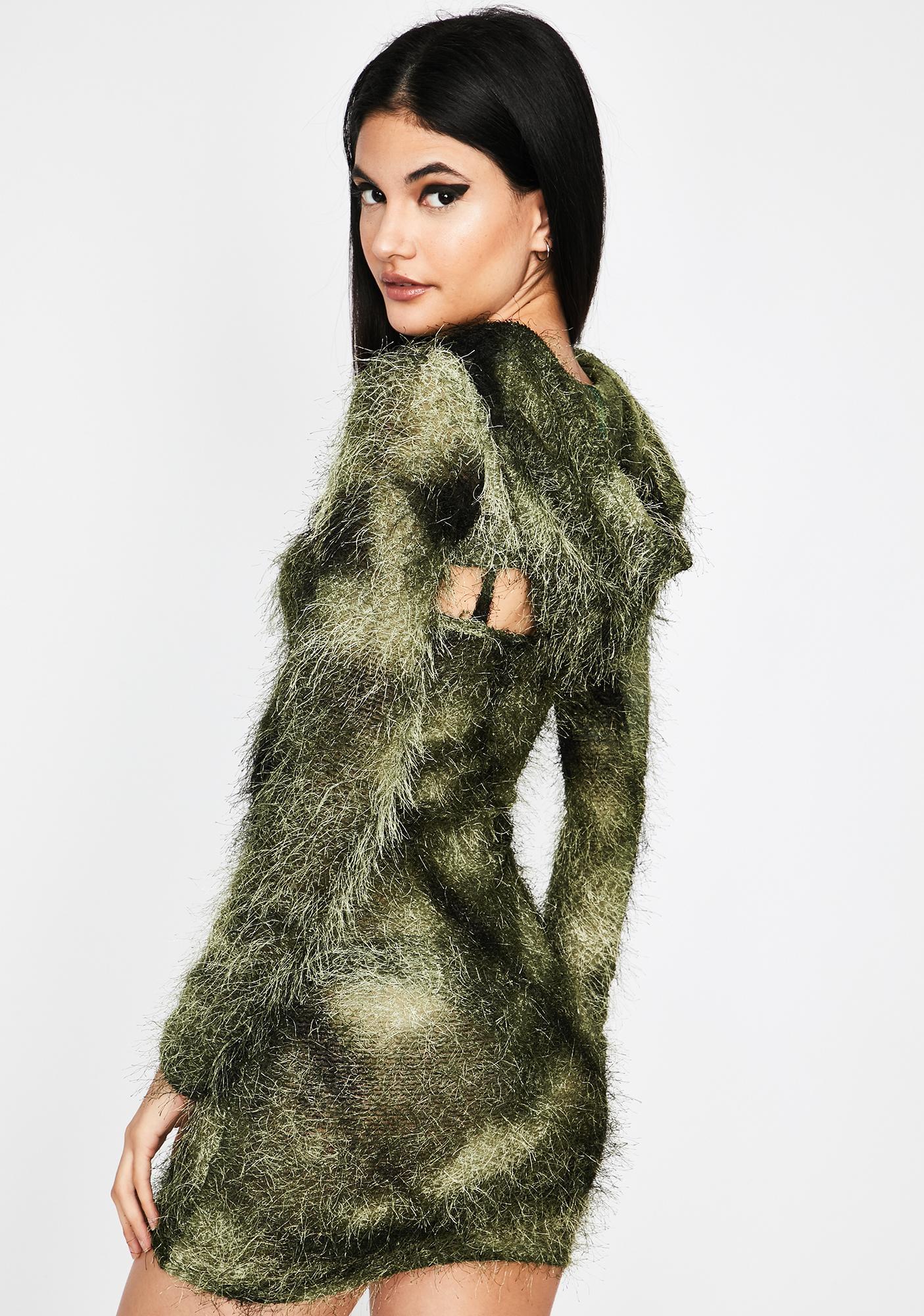 Lush Untamed Pleasures Hoodie Dress