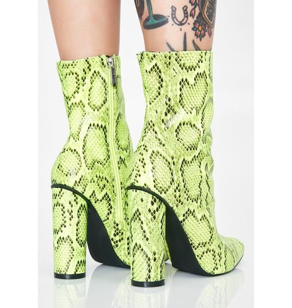 Serpent Medusa Slay Ankle Boots