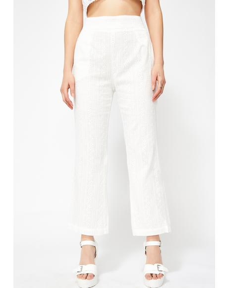 Delicate Mood Eyelet Pants