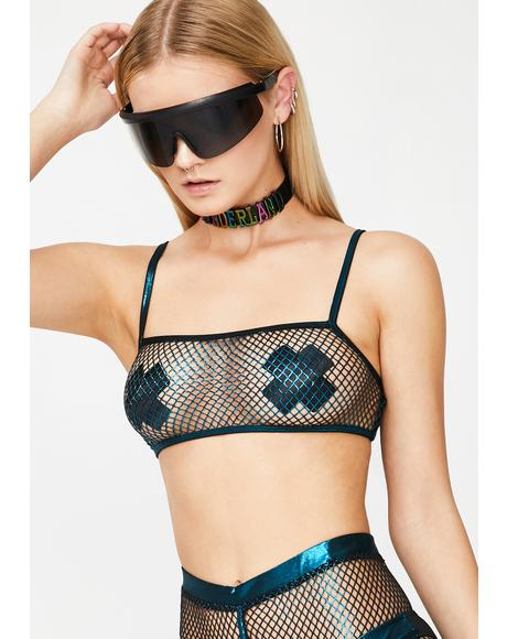 Sonic Worship Fishnet Bra