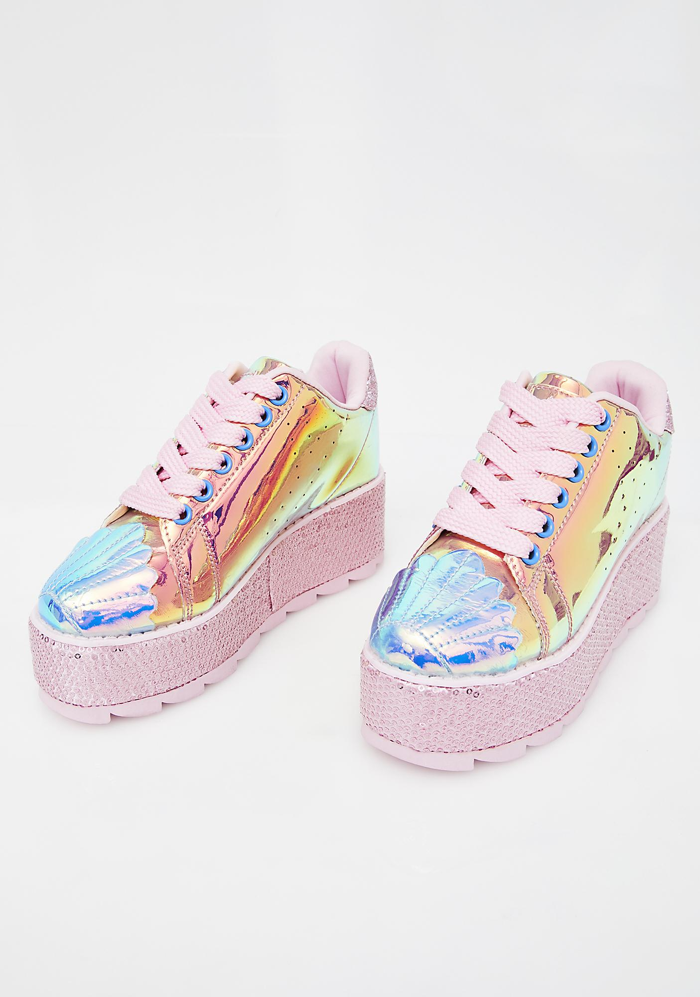 Y.R.U. Mermaid Lala Platform Sneakers