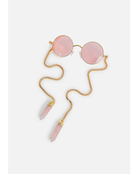 Me & Pinke McGee Circle Sunglasses