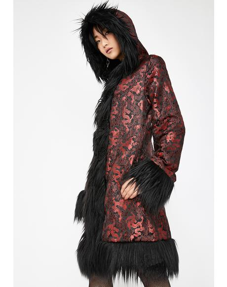 Eternal Blaze Brocade Coat