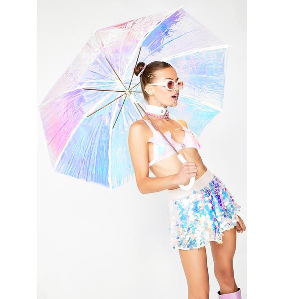 FCTRY Cosmic Reign Hologram Umbrella