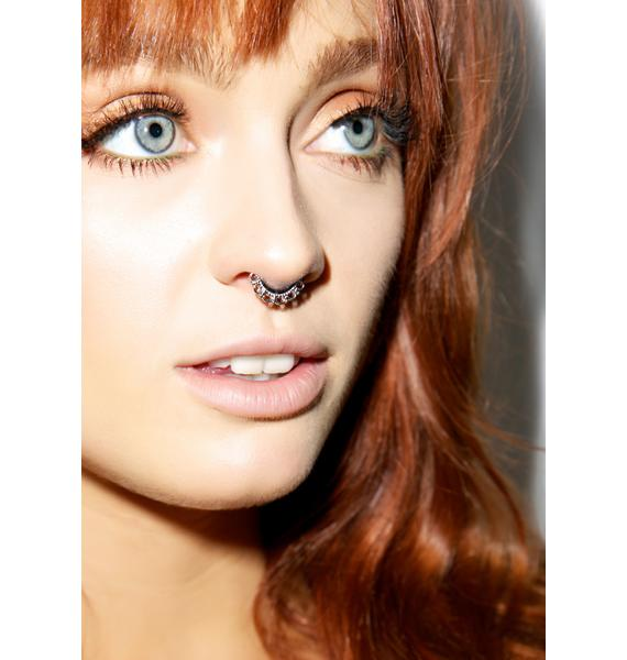 Brass Knuckles Septum Ring