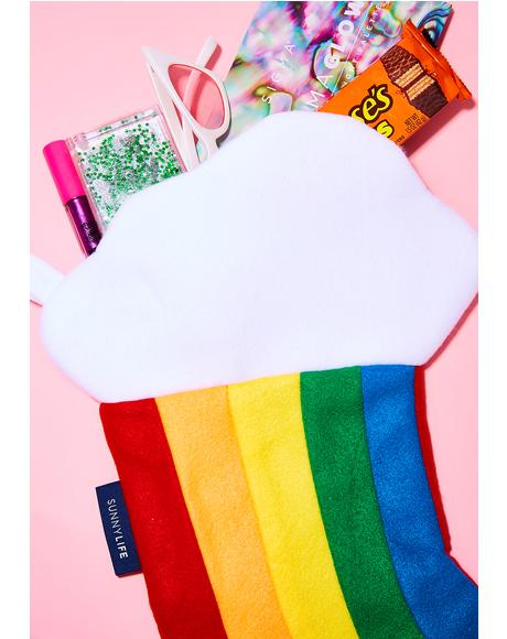 Rainbow Festive Stocking