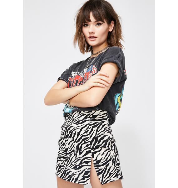 Motel Zebra Pelmet Skirt