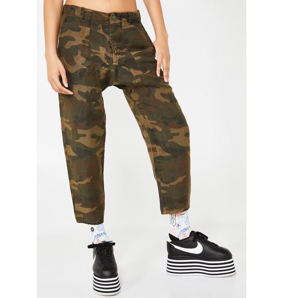 Blank NYC Drop Crotch Camo Joggers