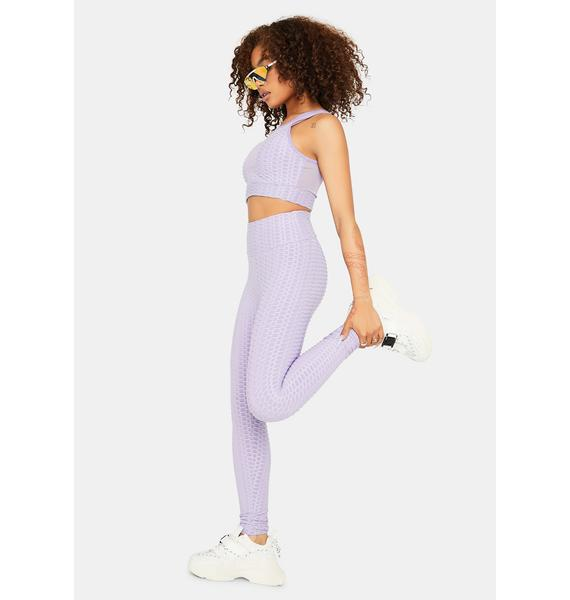 When I'm With You Active Textured Leggings