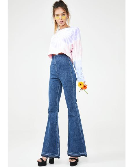 Austin Pull On Flare Jeans