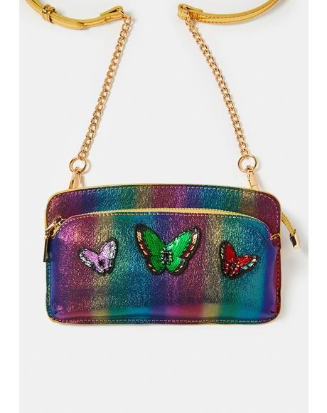 Rainbow Bright Patch Crossbody Bag