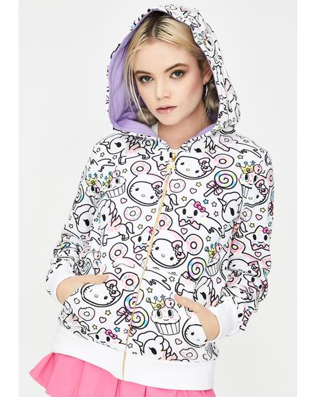 X Hello Kitty Hello Sugar Rush Zipup Hoodie