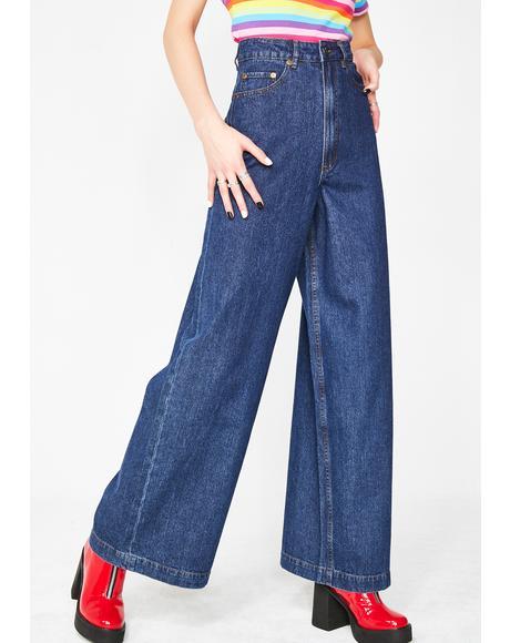 Rainbow Bum Jeans