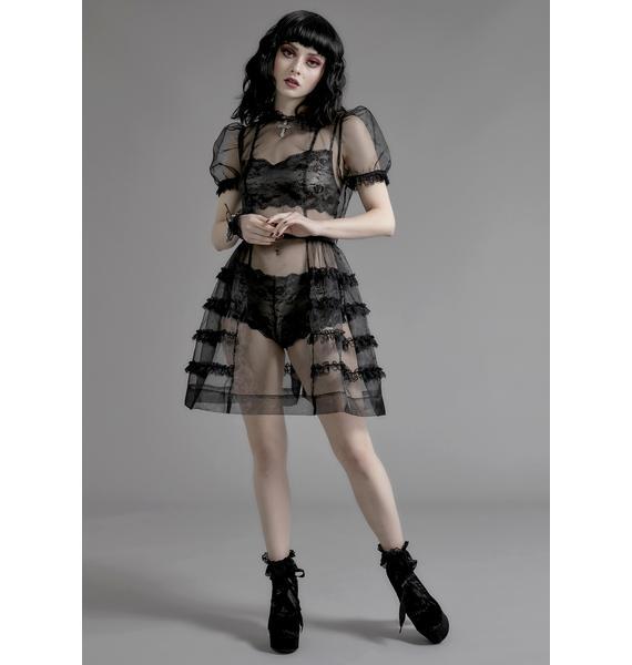 Widow Moonlight Sonata Babydoll Dress