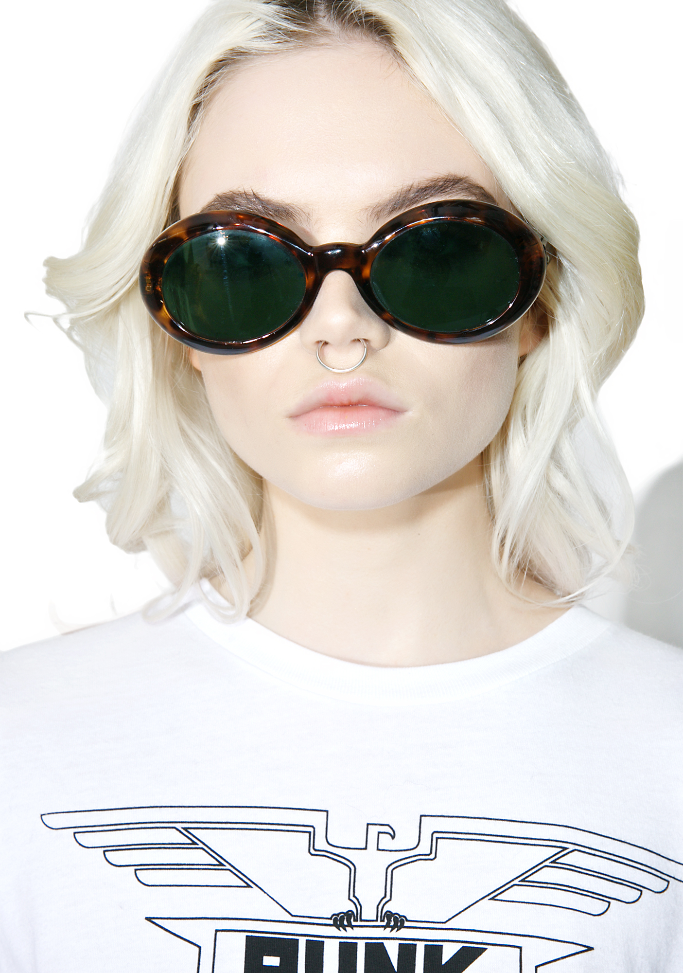 Round Pattern 60s Retro Sunglasses