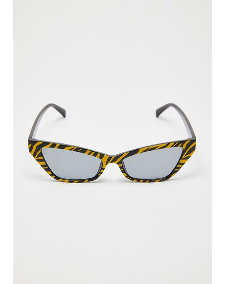 Miss Tiger Cat-Eye Sunglasses