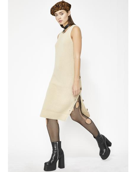 Neutral Ground Sweater Dress