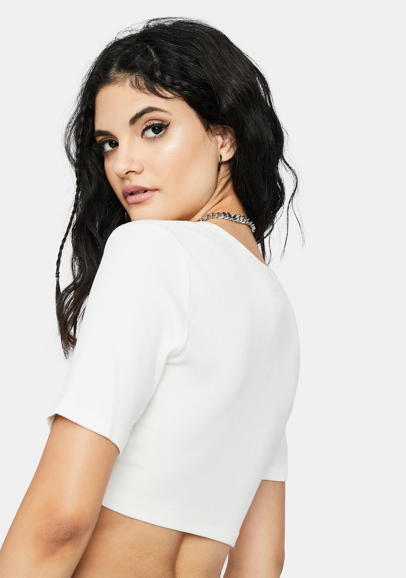 Blanc Made For U Ruched Front Crop Top
