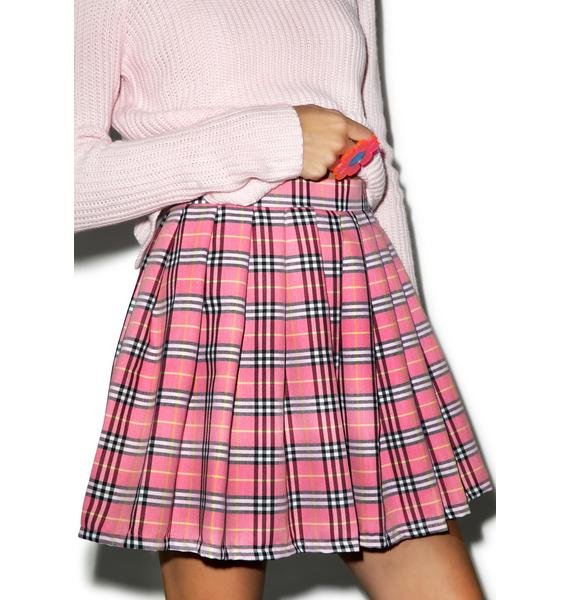 Happy Monday Reality Bites Baby Plaid Skirt
