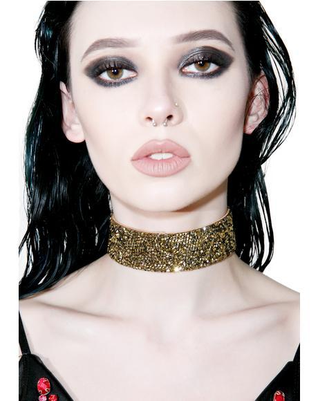 Bronze Showgirl Glitter Choker