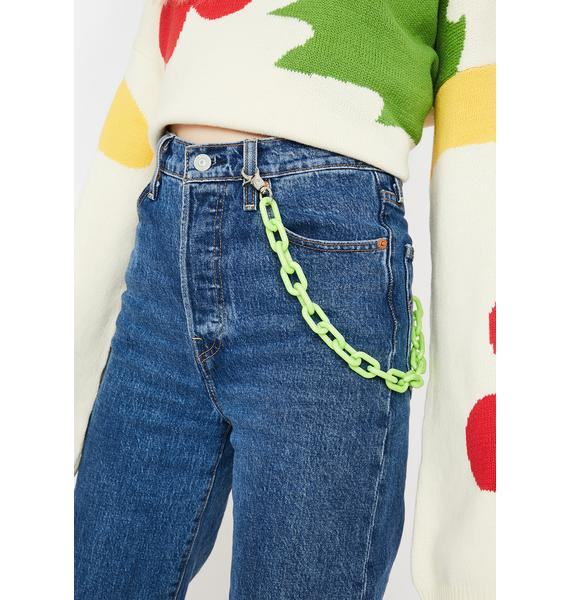 Lime Coming Clean Chain Belt