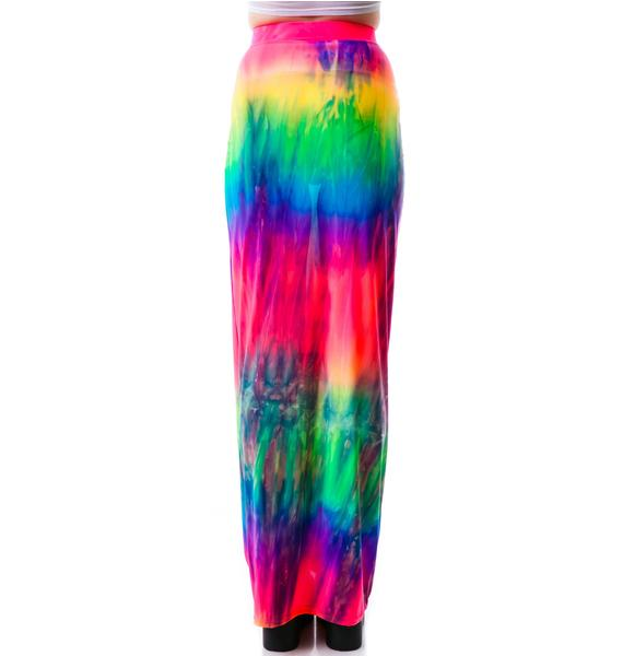 Obscure Couture Naida Rainbow Maxi Skirt