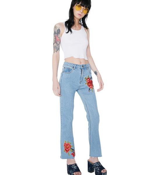 Build Me Up Buttercup Embroidered Jeans