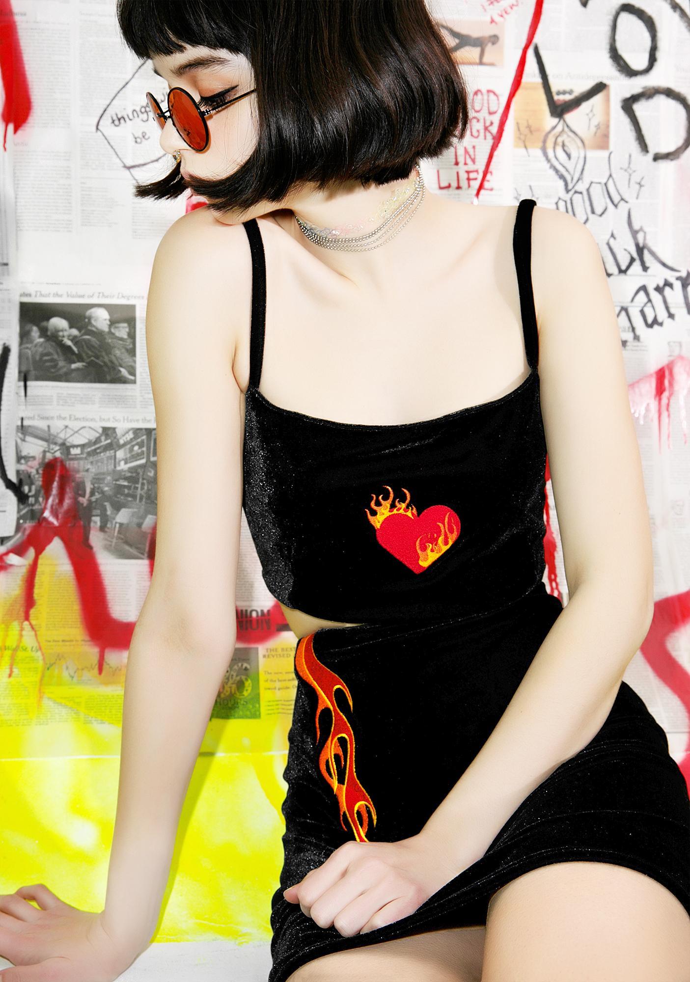 Stuck on Stupid Burning Heart Top