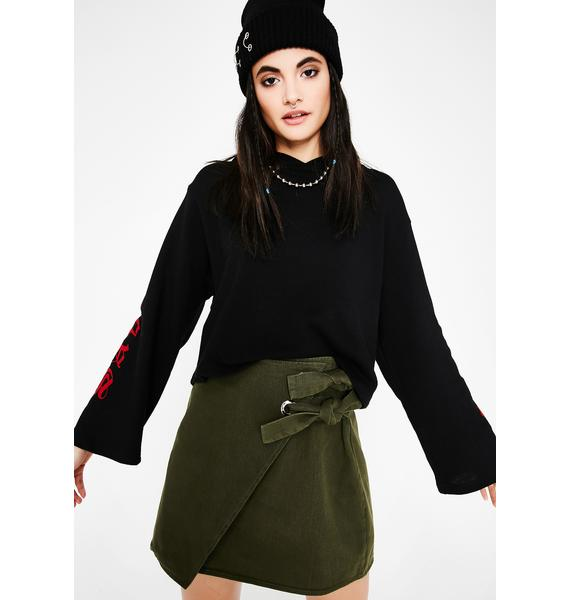 Olive Finders Keepers Tie Skirt