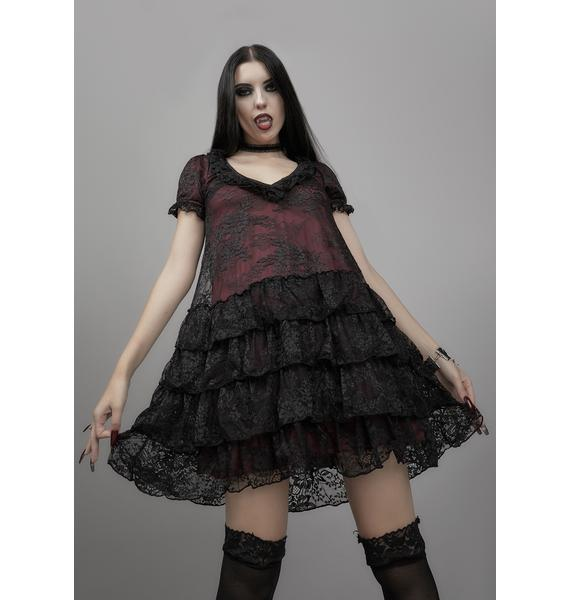 Widow Heavy In Your Arms Babydoll Dress