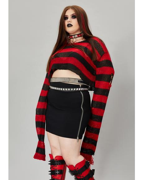 Sinful Wicked Super Creep Striped Sweater