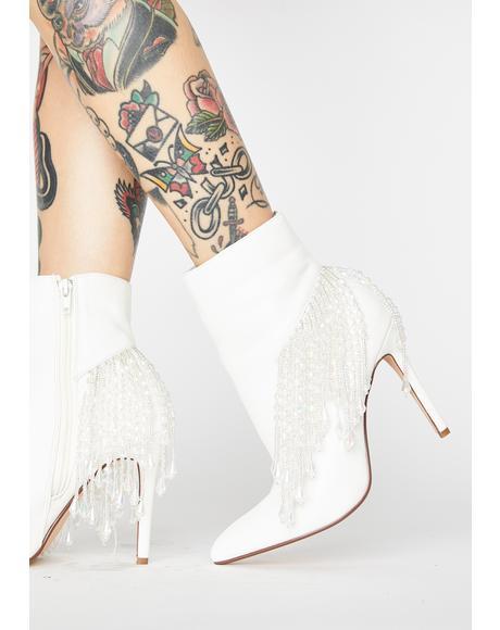 Astalema Fringe Heeled Boots