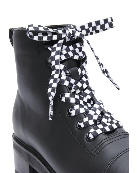 Vroom Checkered Shoelaces