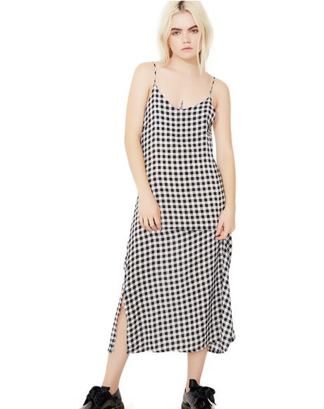 Change Your Mind Checkered Dress