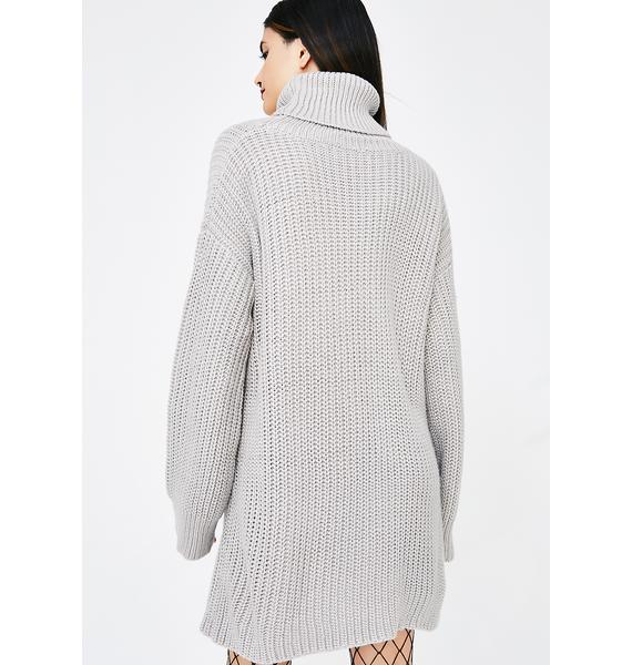 Gray Skies Sweater Dress