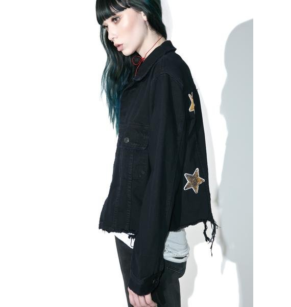 Taiga Embroidered Denim Jacket