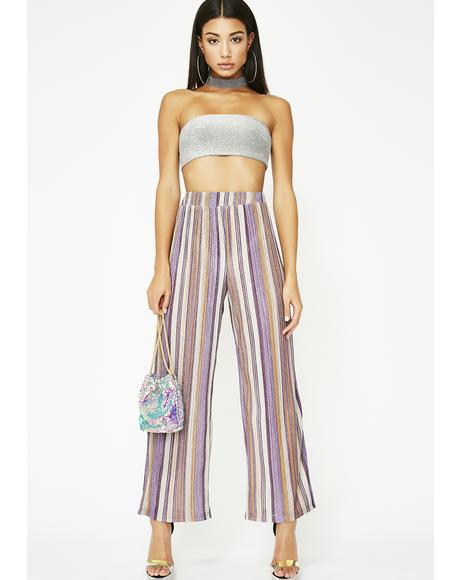 High Beams Striped Pants