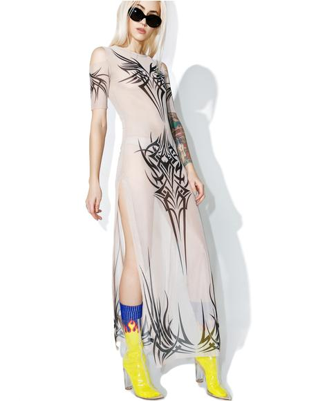 Phenomenon Tattoo Maxi Dress