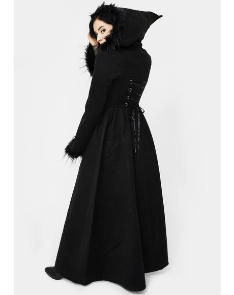 Hooded High-Low Coat