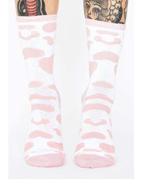 Bae Daily Moo'd Crew Socks